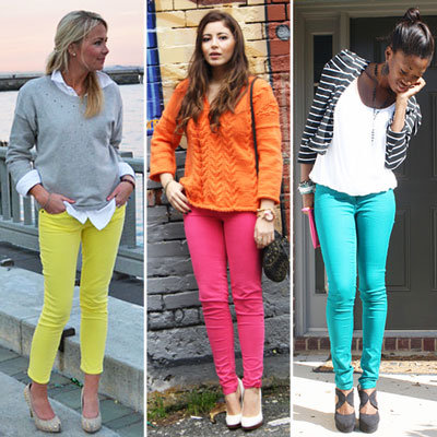 Styling Tip: Wear Neon Jeans