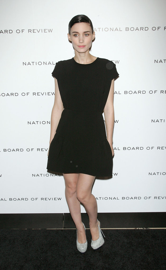 Rooney Mara was in black for the National Board of Review Awards gala.