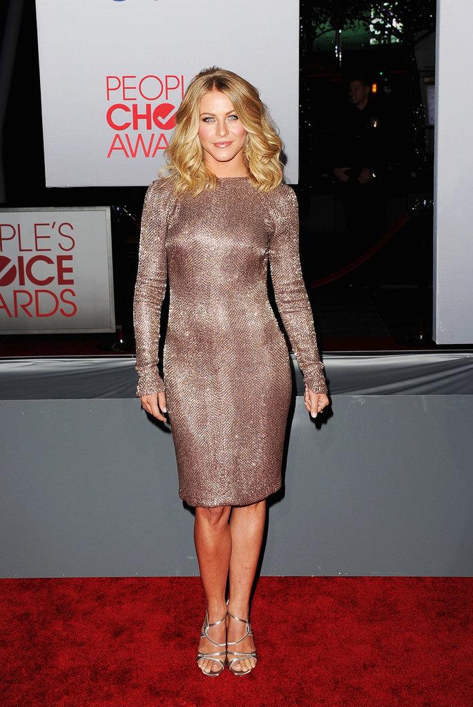 Julianne Hough shimmered at an LA award show.