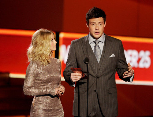 Julianne Hough and Cory Monteith