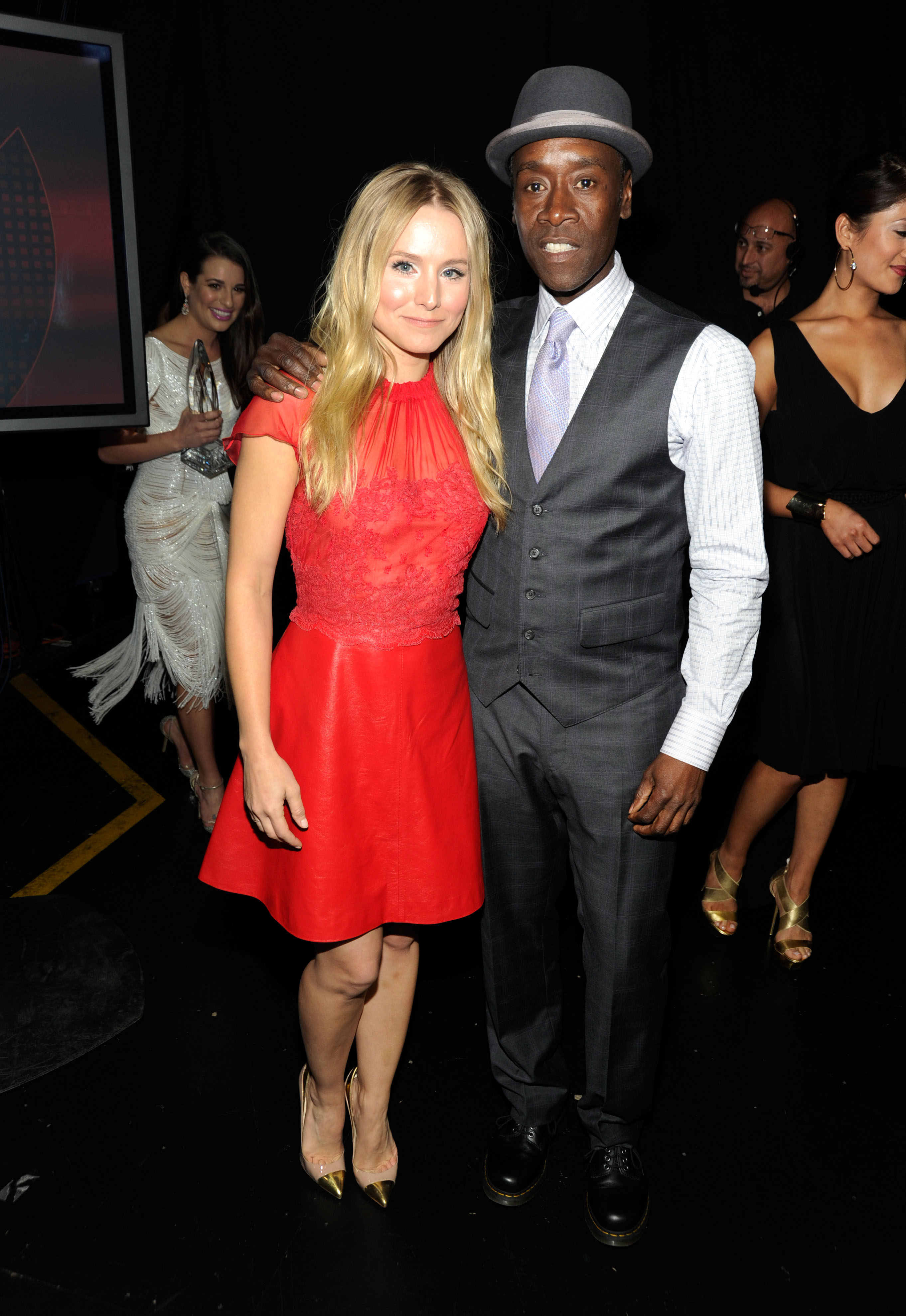 Kristen Bell and Don Cheadle