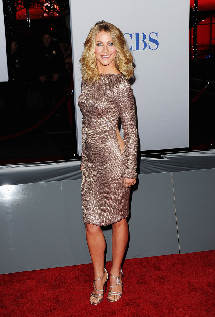 Julianne Hough stopped at the step-and-repeat.