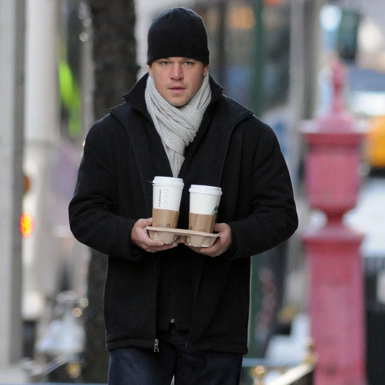Matt Damon With Alexia Barroso Walking in NYC Pictures