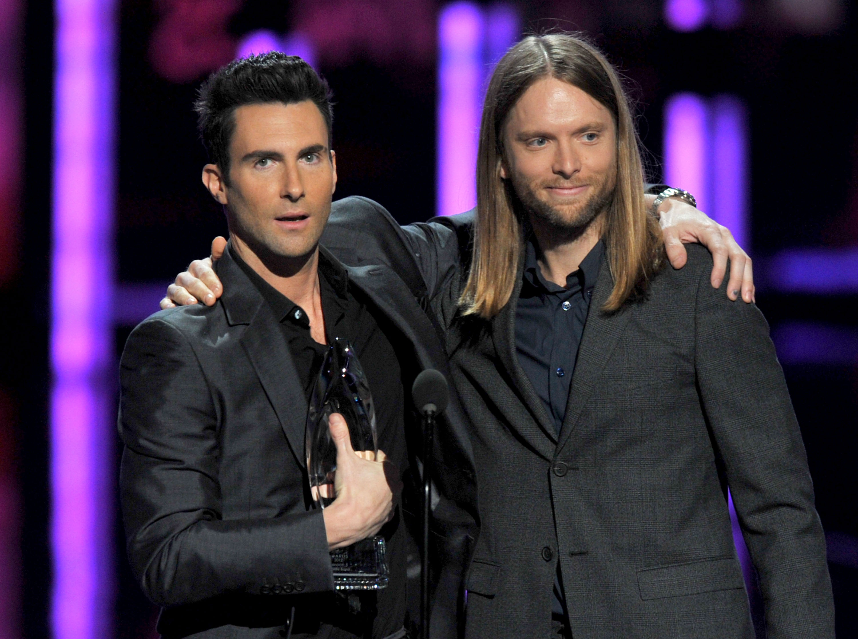 Adam Levine and James Valentine