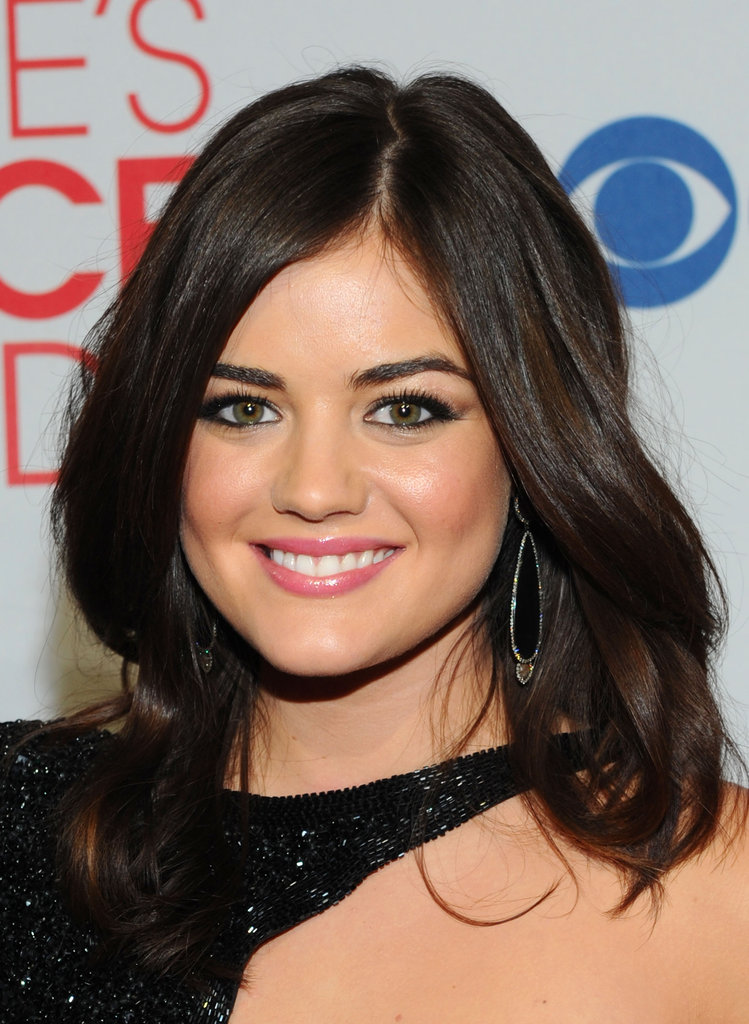 Lucy Hale in a cutout dress at the People's Choice Awards.