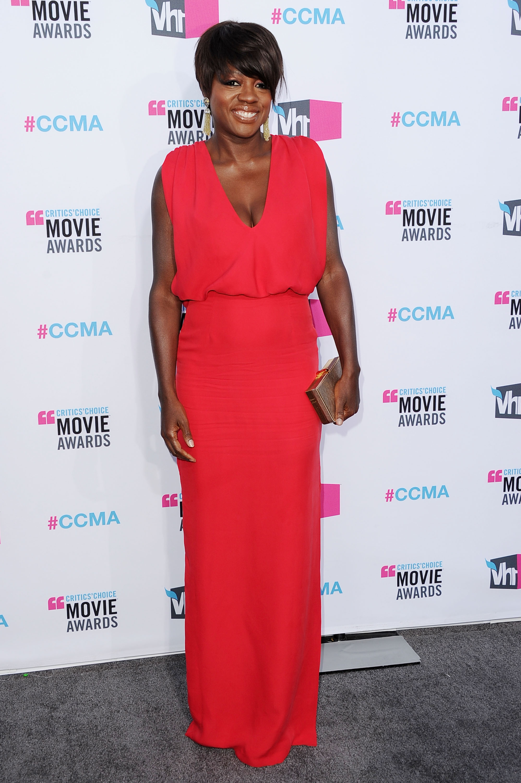 Viola Davis at the 2012 Critics' Choice Movie Awards.