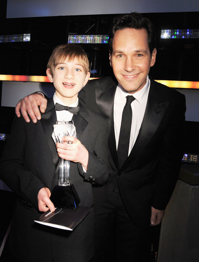Thomas Horn and Paul Rudd