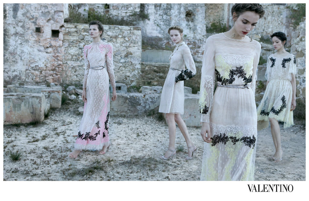 Light embellished gowns and tea-length dresses from Valentino Spring '12. Source: Fashion Gone Rogue