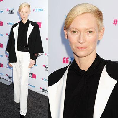 Tilda Swinton at Critics' Choice 2012