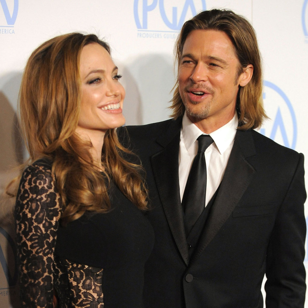 Brad Pitt and Angelina Jolie Pictures at 2012 Producers Guild Awards