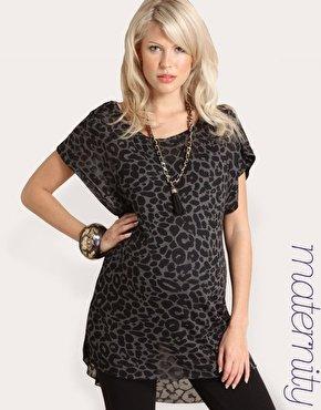 ASOS Maternity | ASOS MATERNITY Leopard Printed Top at ASOS