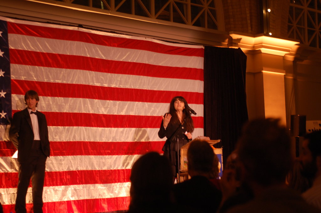 Ruth Reichl was the keynote speaker of the evening. She spoke on how far good American food has come.