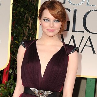 Emma Stone in Lanvin at Golden Globes