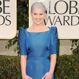 Kelly Osbourne in Blue Zac Posen Dress Pictures at 2012 Golden Globes