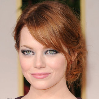 Emma Stone's 2012 Golden Globes Hair and Makeup Look