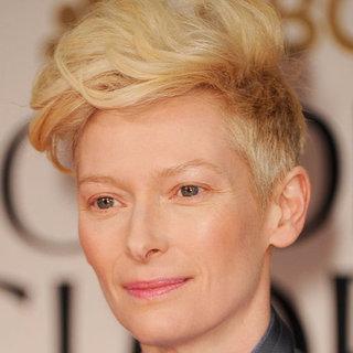 Tilda Swinton's 2012 Golden Globes Hair and Makeup Look