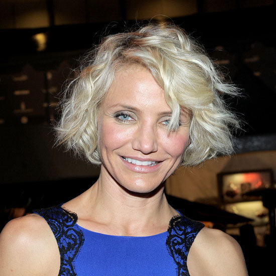 Cameron Diaz Shows Off Her New Blonde Bob and Makeup at the Weinstein Company's Golden Globes After Party
