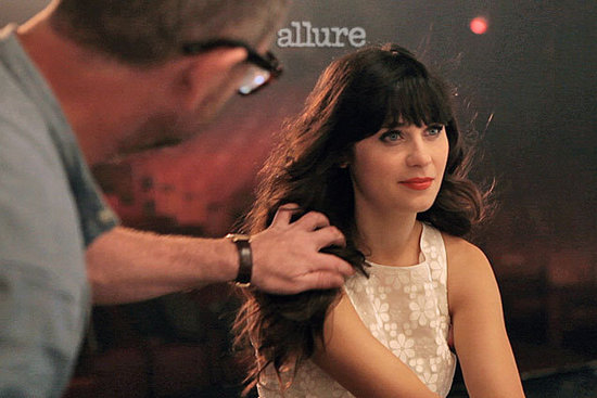 Zooey Deschanel Talks Her Signature Bangs, Femininity and Being an It Girl in Allure Magazine February Issue