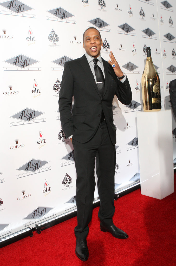 Jay-Z smiled on the red carpet in NYC.
