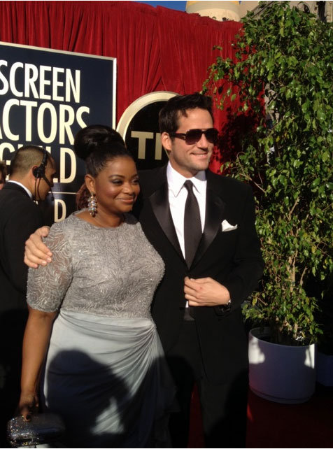 Octavia Spencer from The Help hit the red carpet. Twitter User: SAGawards