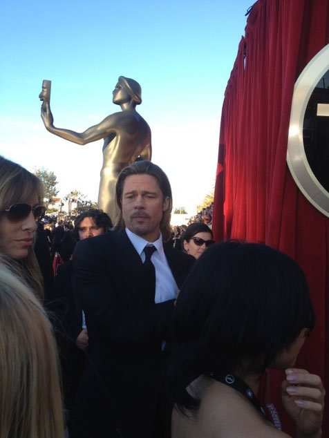 Brad Pitt hit the red rug! Twitter User: SAGawards