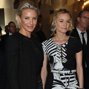 Cameron Diaz and Diane Kruger Buddy Up For The 2012 Versace Couture Show in Paris