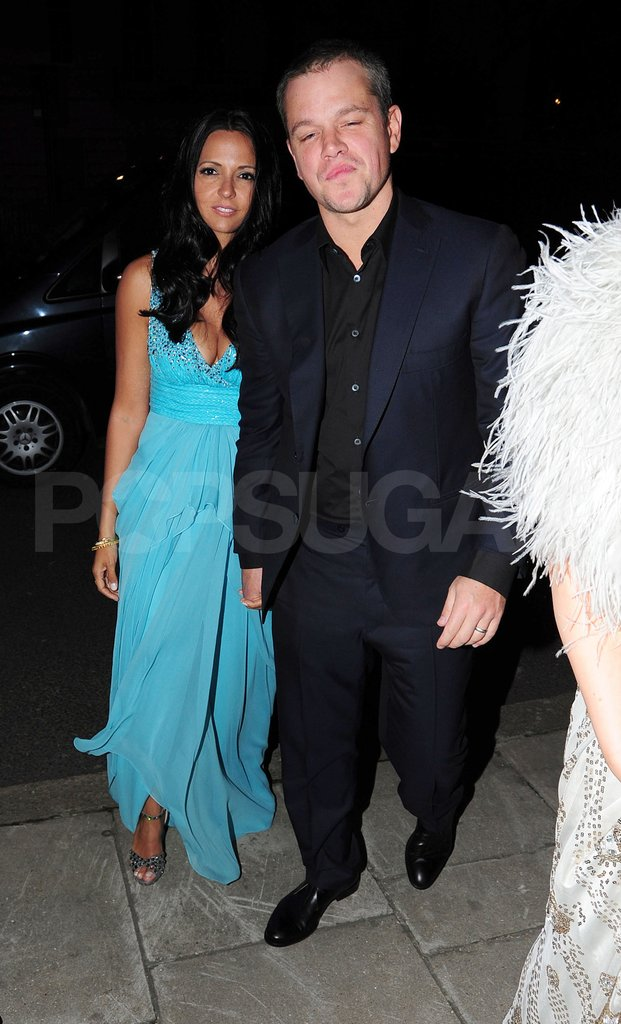 Matt Damon and Luciana Damon went to Lisa Snowdon's birthday party.