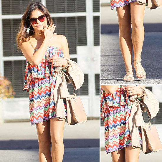 Jenna Dewan Zigzag Colorful Dress