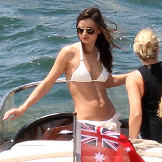 Miranda Kerr White Bikini Pictures in Sydney