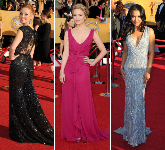 The Glee Cast Adds Colour and Sparkle to the SAG Awards