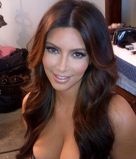 Kim Kardashian's Breakup Haircut? A Very Subtle Colour Change