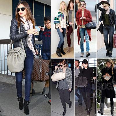 Celebrities Wearing Biker Boots 2012