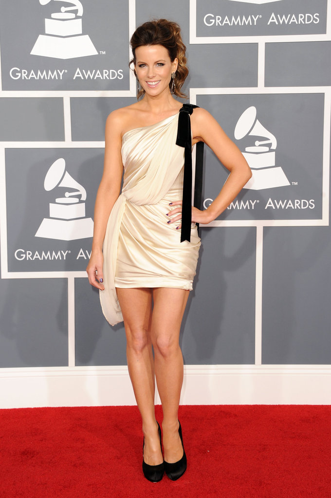 Kate Beckinsale on the red carpet at the Grammys.