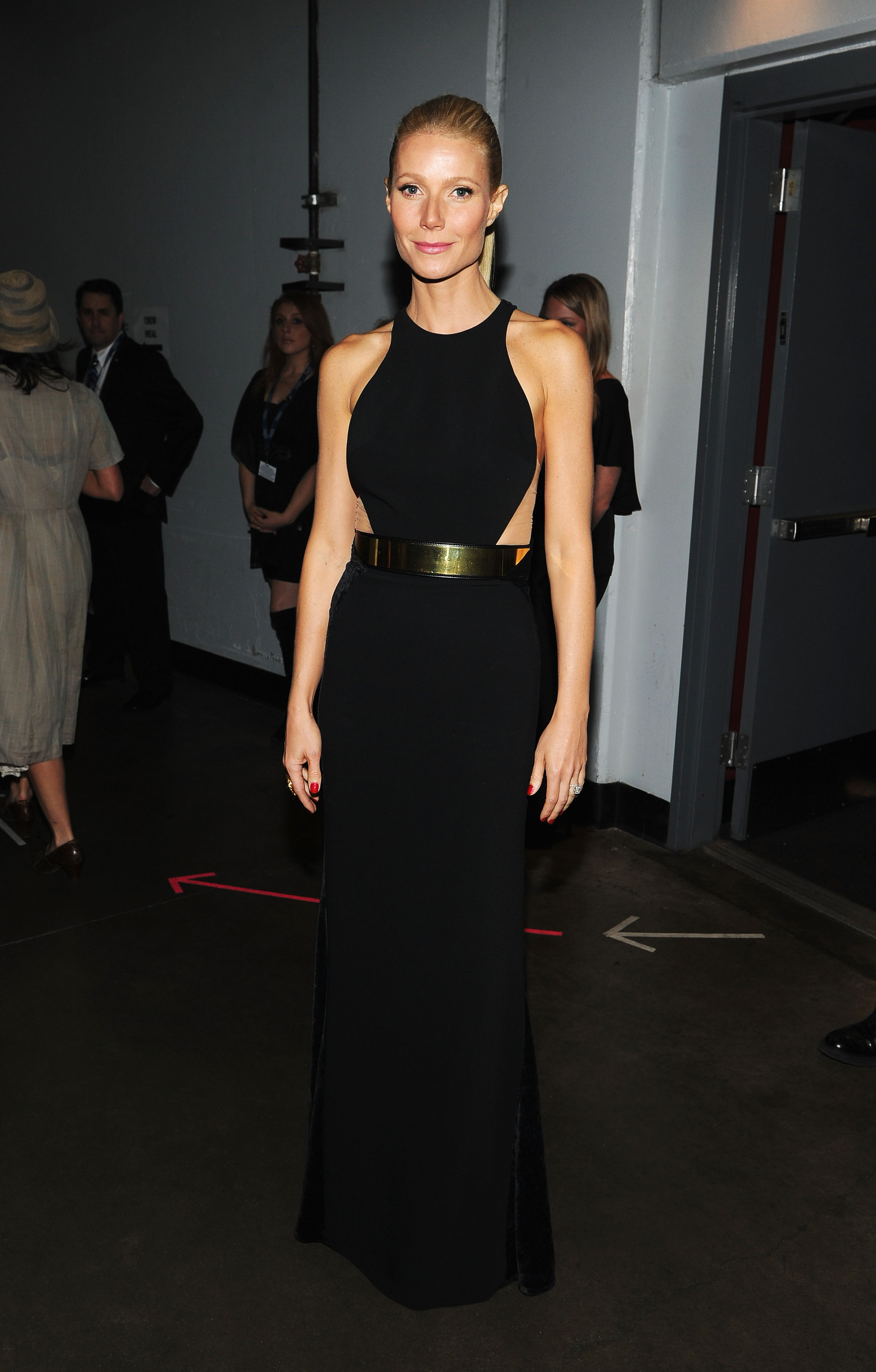 Gwyneth Paltrow posed for a photo backstage.