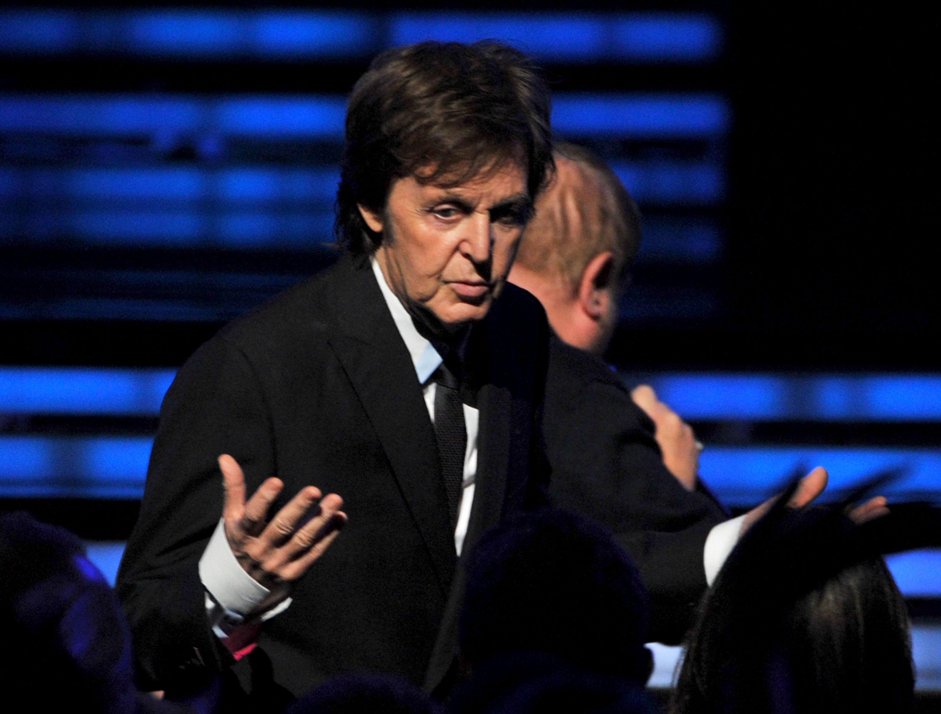 Paul McCartney was onstage at the Grammys.