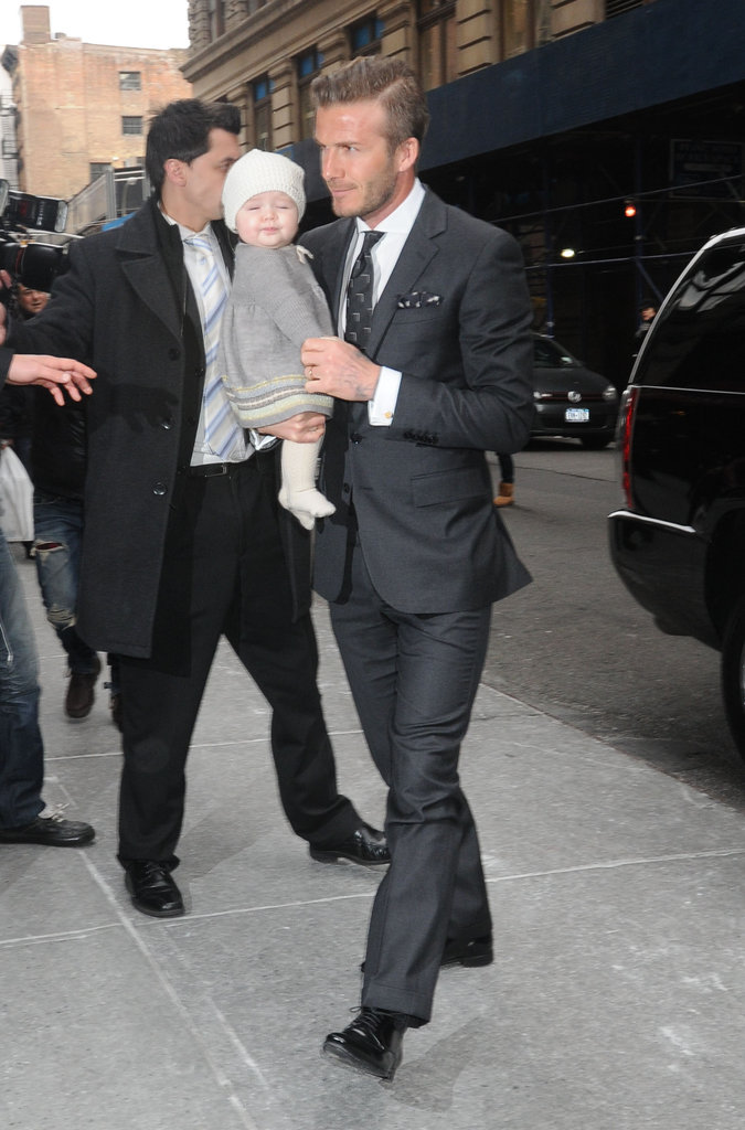 David and Harper Show Their Support For Victoria Beckham at Her NYFW Presentation
