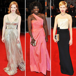 See All the Celebrity Red Carpet Style from the 2012 BAFTA Awards: Michelle Williams, Christina Hendricks, Kristen Wiig & more!