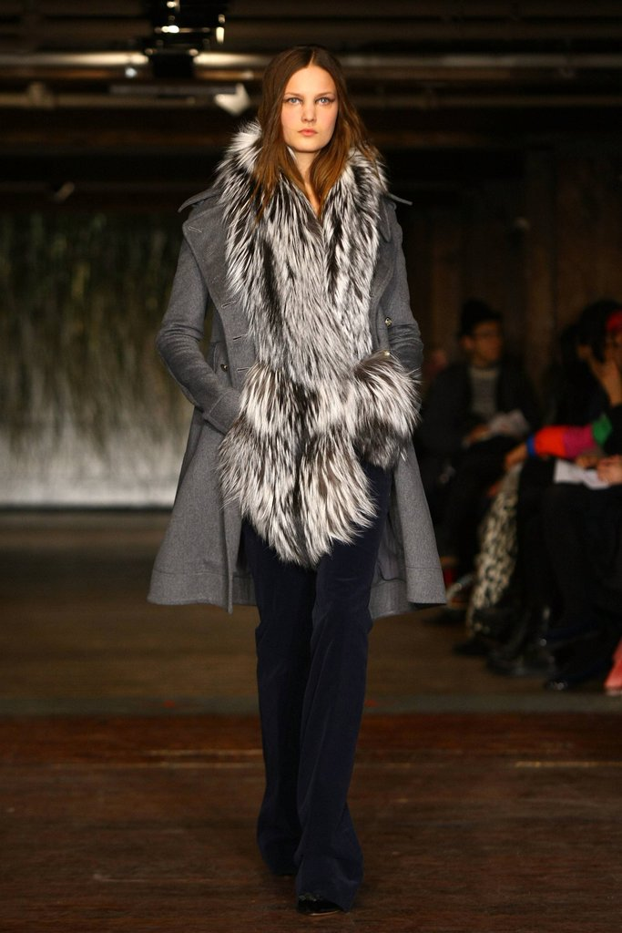 Another winner from Altuzarra: we love the slim, ultra-tailored feel of the wool coat against the plush fur detail. Together it feels like a sherpa ran into a fashion editor.