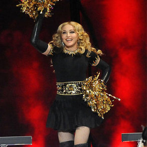 Madonna 2012 Super Bowl Black and Gold Outfit