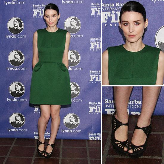 Rooney Mara Green Dress