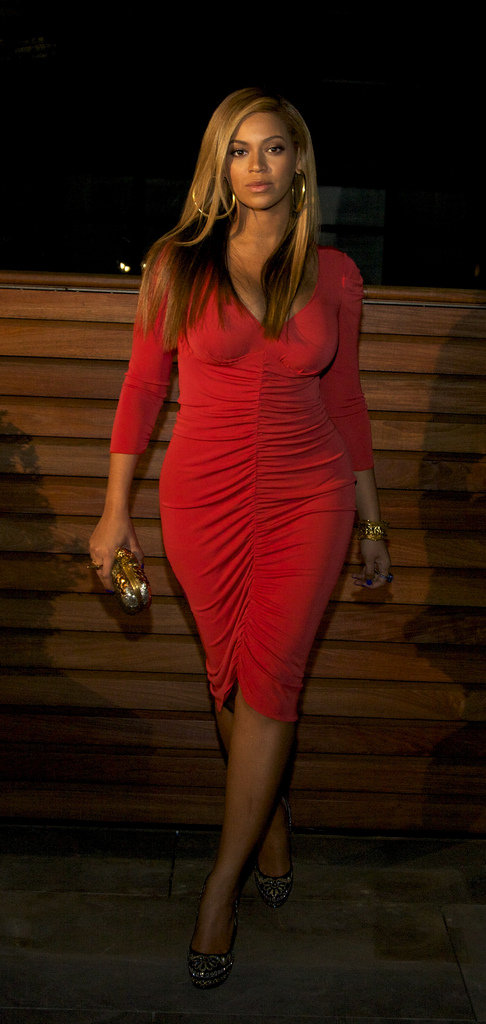 Beyonce Knowles was out on the town after giving birth to Blue Ivy Carter.