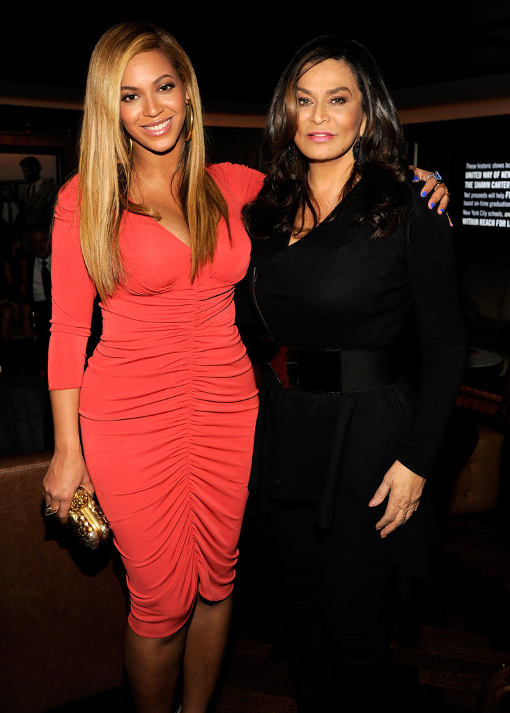 Beyonce Knowles with her mom Tina.