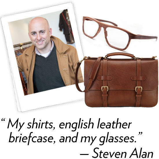 Steven Alan, designer Three words that describe your Spring '12 collection: Modernism, Mexico, folk. What's your hidden talent? Scoping out amazing restaurants in cities I've never been to. What are your three fashion essentials? My shirts, English leather briefcase, and my glasses. What's your favorite Winter comfort food? Smoked fish and bagels. Reminds me of Sunday mornings being a kid. What beauty, grooming products, or spa treatments do you use before, during, or after Fashion Week? I go to Spa Castle or King Sauna. I get a body scrub and lie in several heat rooms.