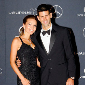 Novak Djokovic, Jelena Ristic, Chris Hemsworth, Pregnant Elsa Pataky Pictures at 2012 Laureus World Sports Awards
