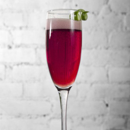Cedilla Açaí Champagne Cocktail