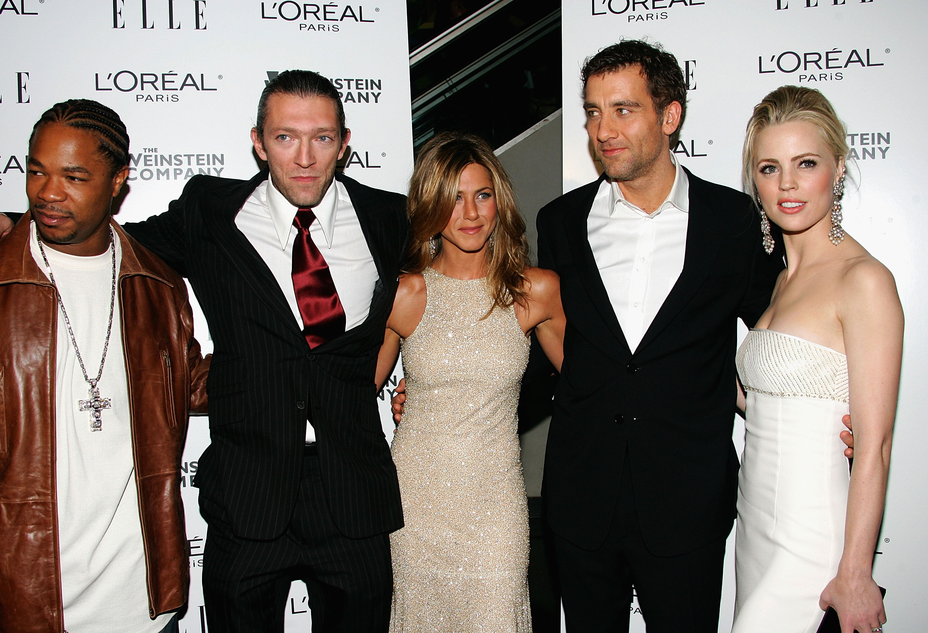 Photo of Clive Owen & his friend actress  Jennifer Aniston - Los Angeles
