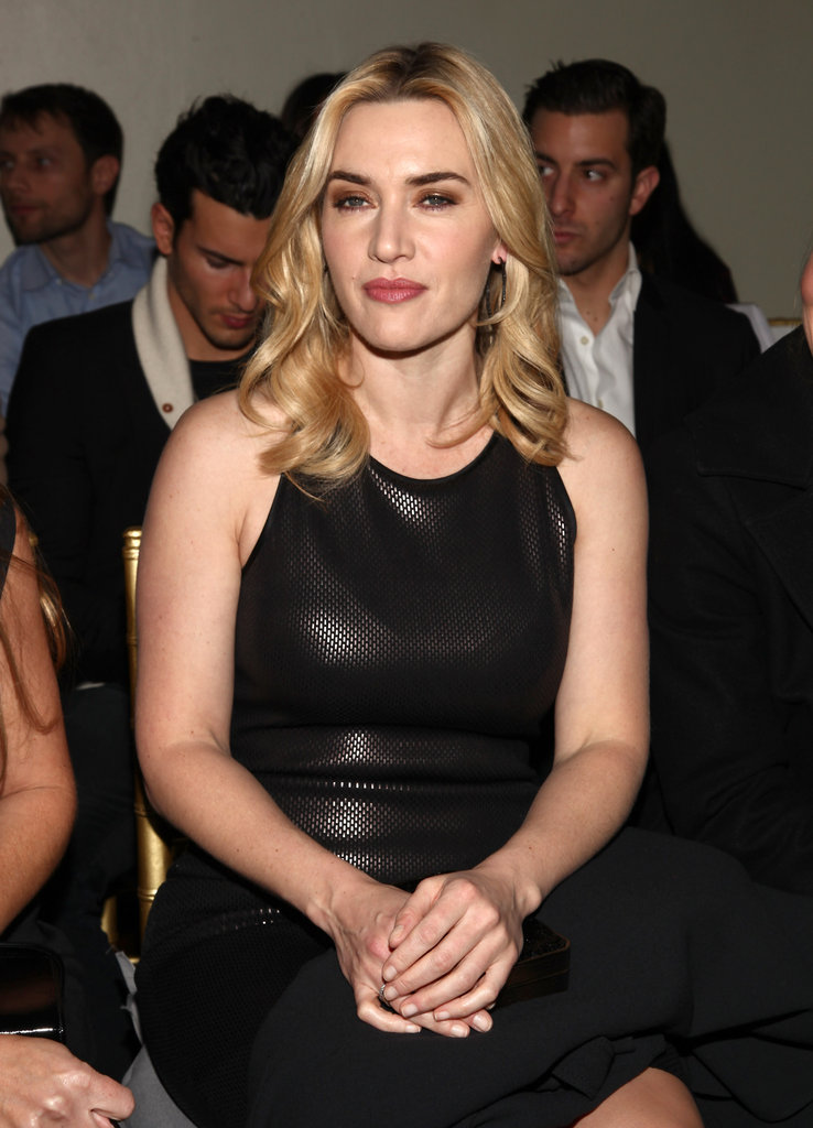 Kate Winslet in the front row at the St. John runway show.