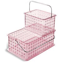 Pink Grid Totes