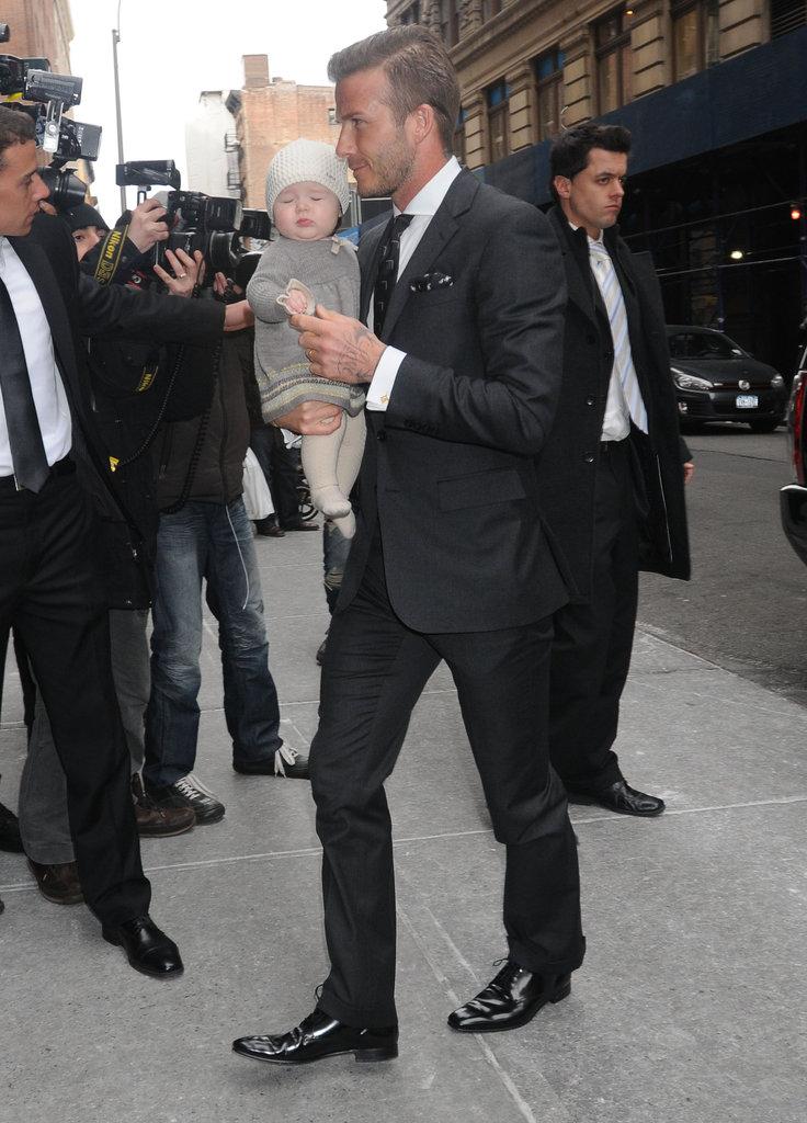 David Beckham brought Harper Beckham out.