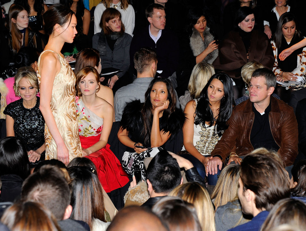 Matt and Lucy joined other stars in the front row.